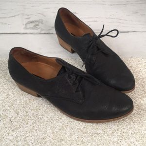 Paul Green Black Leather Dale Oxford Booties